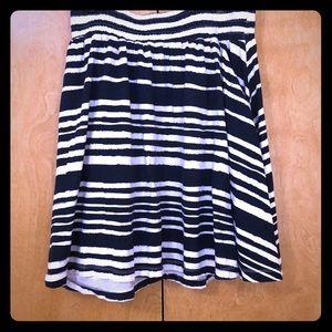 Dresses & Skirts - Navy and White Striped Full Skirt